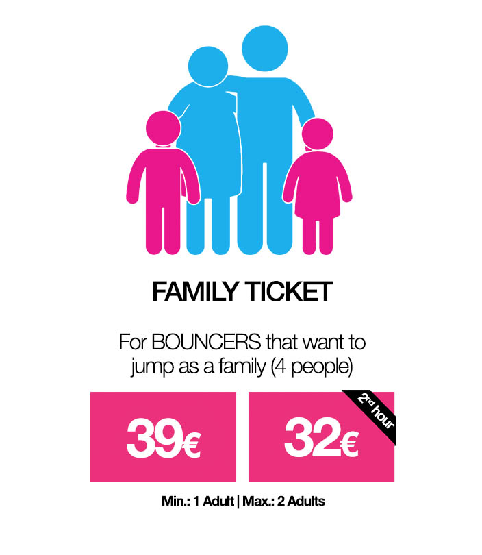 Family Ticket BOUNCE price